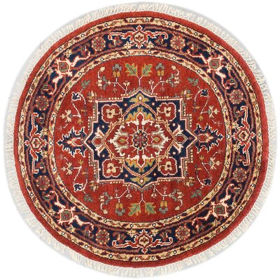 Serapi Heritage Hand-Knotted Orange/Blue Area Rug