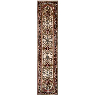 One-of-a-Kind Baldry Hand-Knotted Brown Area Rug