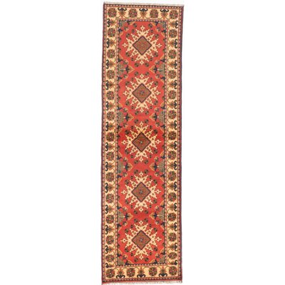 One-of-a-Kind Kargahi Hand-Knotted Brown Area Rug