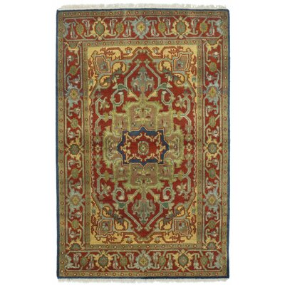 Serapi Heritage Hand-Knotted Green/Red Area Rug