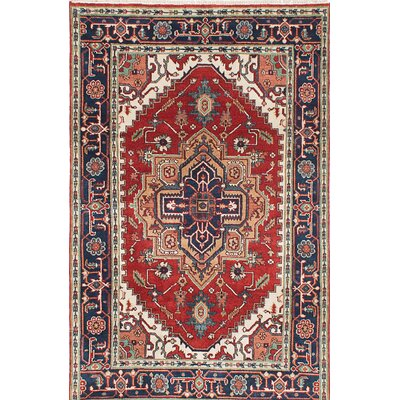 Serapi Heritage Hand-Knotted Blue/Red Area Rug