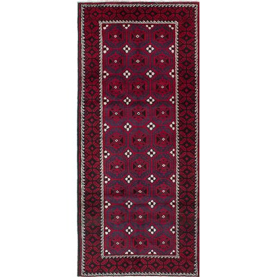 Baluch Hand-Knotted Red/Blue Area Rug
