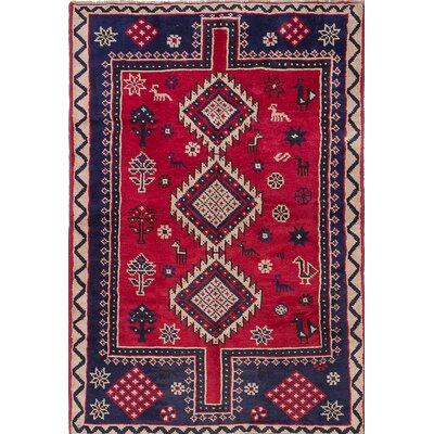 Witt Hand-Knotted Blue / Red Area Rug