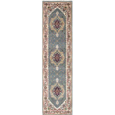 Serapi Heritage Hand-Knotted Blue/Beige Area Rug