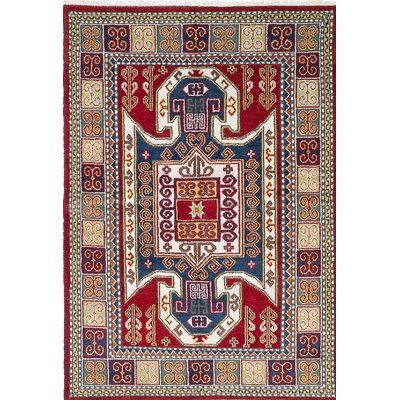 Royal Kazak Hand-Knotted Blue/Red Area Rug