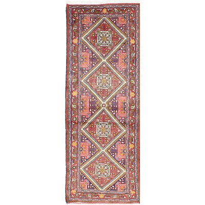 Roodbar Hand-Knotted Blue/Red Area Rug