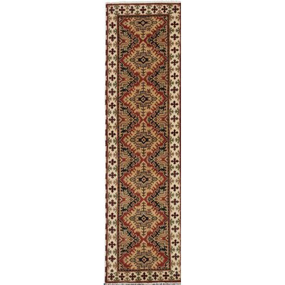 One-of-a-Kind Berkshire Hand-Knotted Brown Area Rug