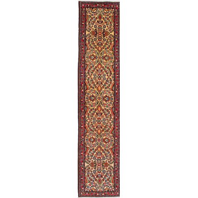 Roodbar Hand-Knotted Yellow/Red Area Rug