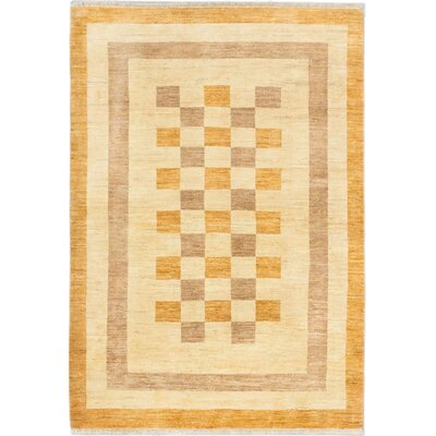 One-of-a-Kind Peshawar Ziegler Hand-Knotted Brown/Orange Area Rug