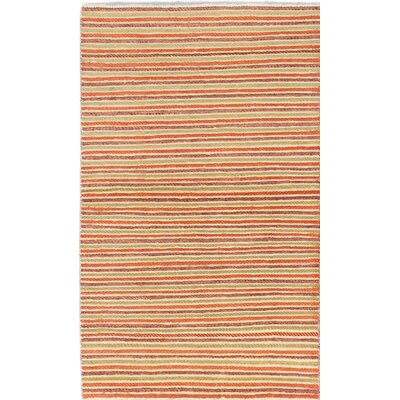 Peshawar Ziegler Hand-Knotted Orange Area Rug