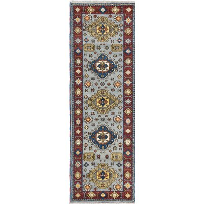 Berkshire Hand-Knotted Blue/Red Area Rug