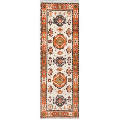 Royal Kazak Hand-Knotted Blue/Orange Area Rug