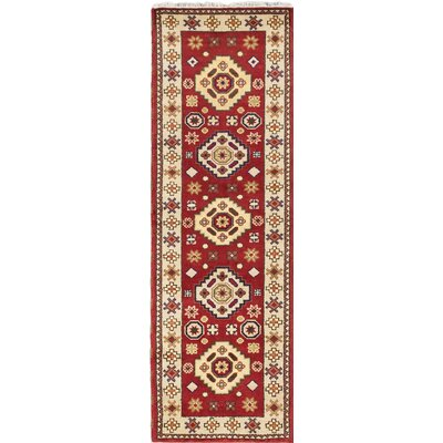One-of-a-Kind Berkshire Hand-Knotted Red Area Rug