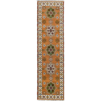 Royal Kazak Hand-Knotted Brown Area Rug