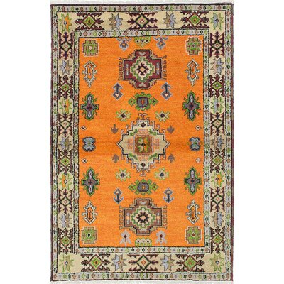 Berkshire Hand-Knotted Orange Area Rug