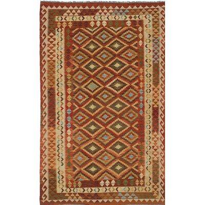 Anatolian Flat-woven Brown Area Rug