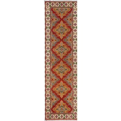 Berkshire Hand-Knotted Red/Blue Area Rug