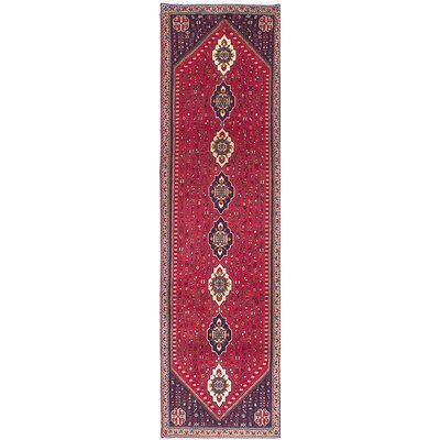 One-of-a-Kind Abadeh Hand-Knotted Red Area Rug