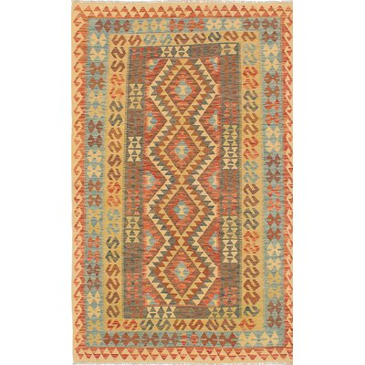 Anatolian Flat-Woven Blue/Brown Area Rug