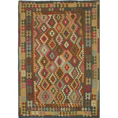 Anatolian Flat-Woven Brown/Green Area Rug