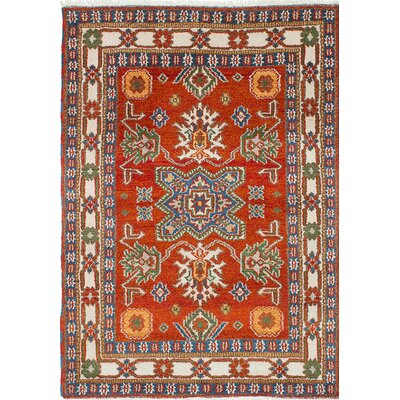 Royal Kazak Hand-Knotted Orange Area Rug