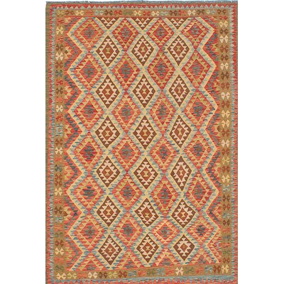 One-of-a-Kind Anatolian Handmade Wool Red/Brown Area Rug