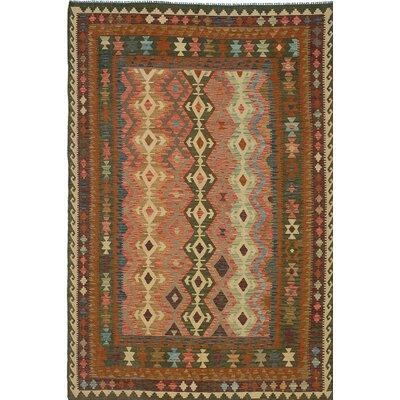 Anatolian Flat Woven Wool Brown Area Rug