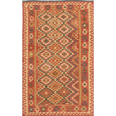 One-of-a-Kind Anatolian Handmade Wool Red Area Rug