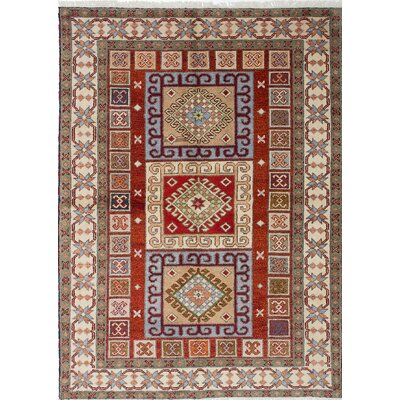 Royal Kazak Hand-Knotted Red/Beige Area Rug