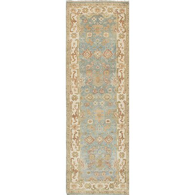 Royal Ushak Hand-Knotted Blue/Beige Area Rug