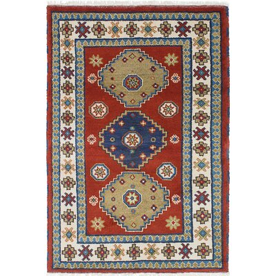 Royal Kazak Hand-Knotted Red/Blue Area Rug
