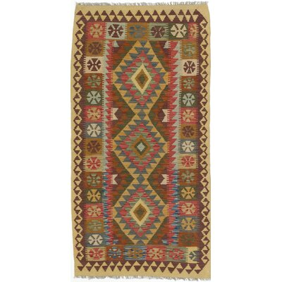 One-of-a-Kind Anatolian Handmade Wool Brown/Beige Area Rug