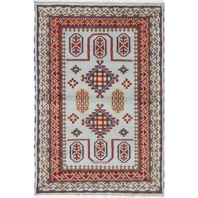 Royal Kazak Hand-Knotted Gray/Red Area Rug