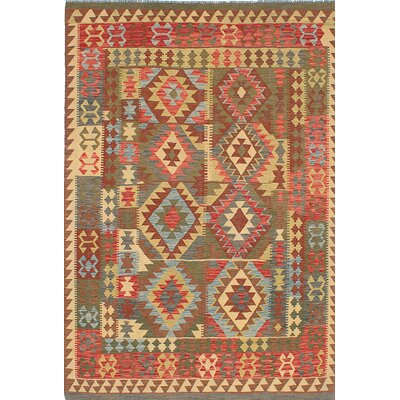 One-of-a-Kind Anatolian Handmade Wool Red/Beige Area Rug