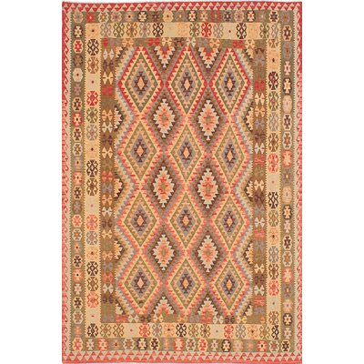 One-of-a-Kind Anatolian Handmade Wool Red/Yellow Area Rug