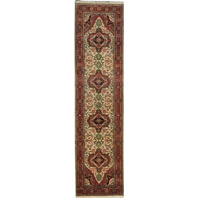 One-of-a-Kind Serapi Heritage Hand-Knotted Brown Area Rug