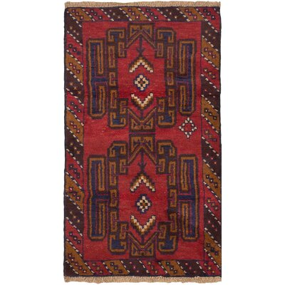 One-of-a-Kind Bahor Hand-Knotted Red Area Rug