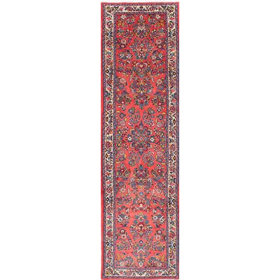 Sarough Hand-Knotted Red Area Rug