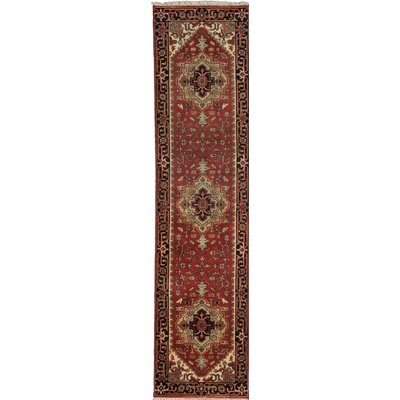Serapi Heritage Hand-Knotted Brown Area Rug