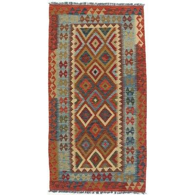 One-of-a-Kind Anatolian Handmade Wool Red Area Rug
