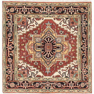 Serapi Heritage Hand-Knotted Red Area Rug