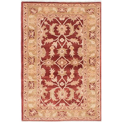 One-of-a-Kind Chobi Finest Hand-Knotted Beige/Red Area Rug