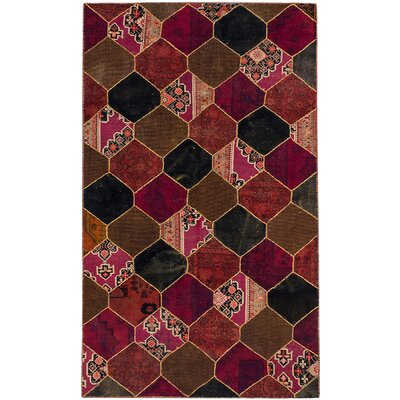 Andelz Hand-Knotted Brown/Red Area Rug