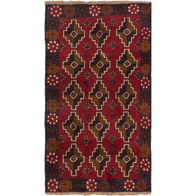 Bahor Hand-Knotted Red Area Rug