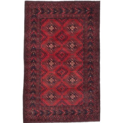 Khal Mohammadi Hand-Knotted Red Area Rug