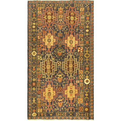Tora Bora Hand-Knotted Blue/Red Area Rug