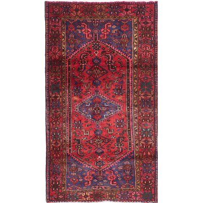 Anston Hand-Knotted Red/Blue Area Rug