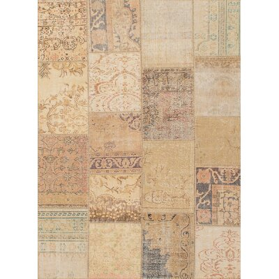 Hand-Knotted Beige Area Rug
