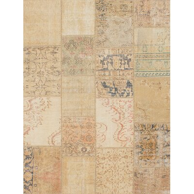 One-of-a-Kind Hand-Knotted Beige Area Rug