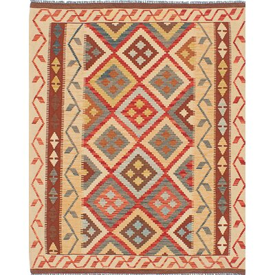 One-of-a-Kind Olmsted Handmade Wool Beige Area Rug